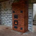Отопительная печь с духовым шкафом