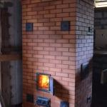 Отопительная печь с духовкой и каменкой