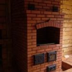 Отопительно-варочная печь со встроенным водяный котлом
