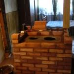 Отопительно-варочная печь с котлом водяного отопления
